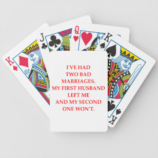 MARRIAGE POKER DECK