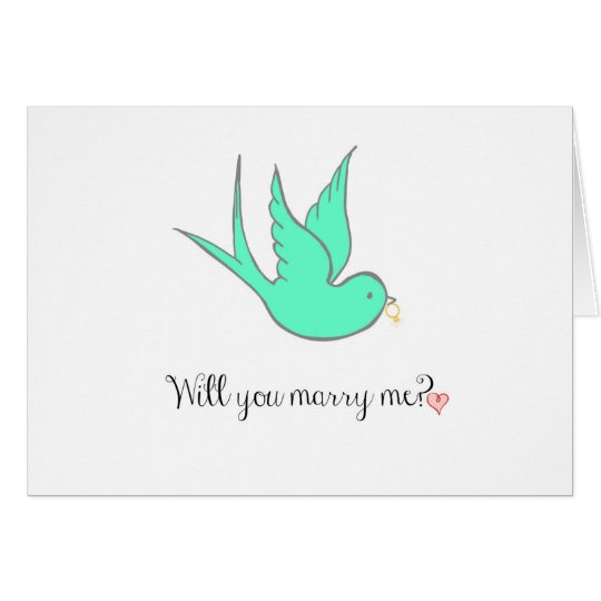 Marriage Proposal Card
