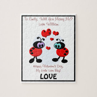 Marriage Proposal Love Bugs Jigsaw Puzzle