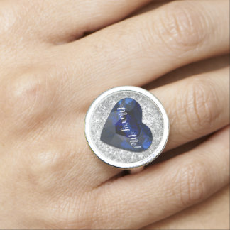 Marriage Proposal Sapphire Heart Ring