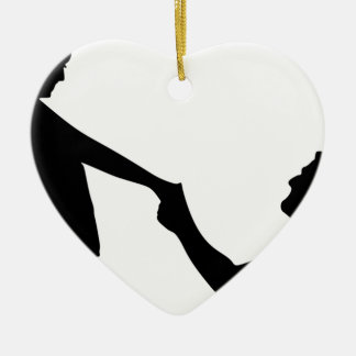 Marriage Proposal Silhouette Ceramic Ornament