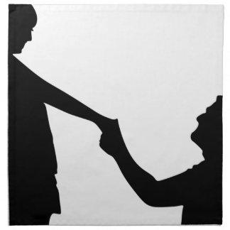 Marriage Proposal Silhouette Napkin
