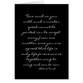 Marriage Quote-Robert Frost Card