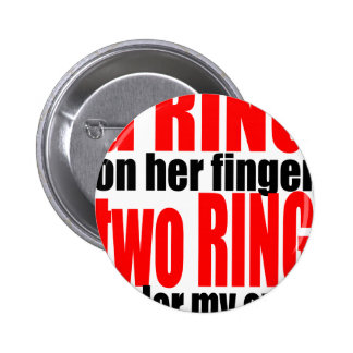 marriage reality ring finger eyes joke romance cou 2 inch round button