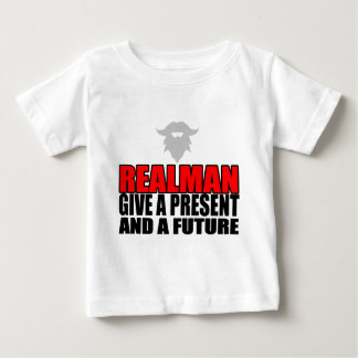 marriage realman future groom bride christmas part baby T-Shirt