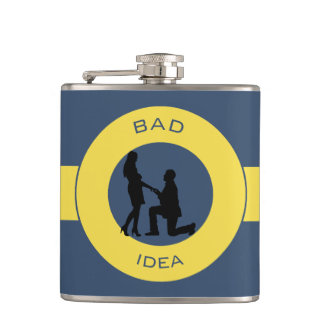 Marriage,run away from this! hip flask