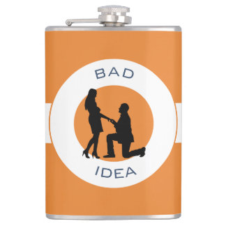 Marriage,run away from this. hip flask