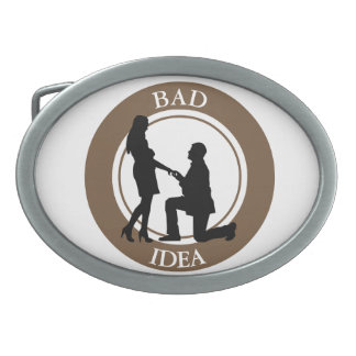 Marriage,run away from this. oval belt buckle