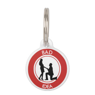 Marriage,run away from this! pet ID tag