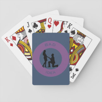 Marriage, run away from this! playing cards