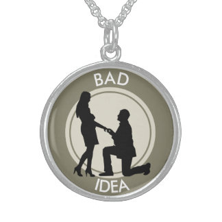 Marriage,run away from this sterling silver necklace
