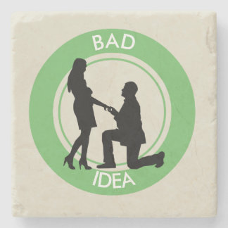 Marriage,run away from this! stone coaster