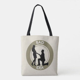Marriage,run away from this. tote bag