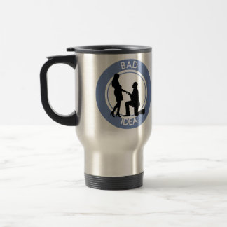 Marriage, run away from this. travel mug