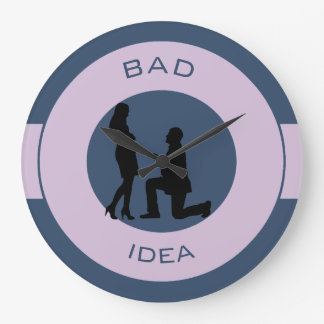 Marriage, run away from this! wall clocks
