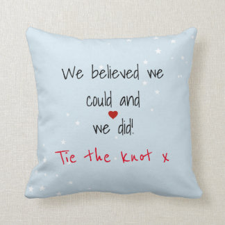 Marriage Saying Throw Pillow