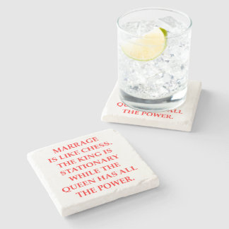 MARRIAGE STONE COASTER