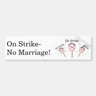 Marriage Strike Bumper Sticker-White Background Bumper Sticker