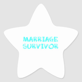 Marriage Survivor - 1 - Cyan Star Sticker
