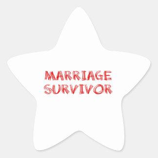 Marriage Survivor - 1 - Red Star Sticker