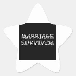 Marriage Survivor - 1 - White Star Sticker
