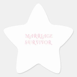 Marriage Survivor - 3 - Pink Star Stickers