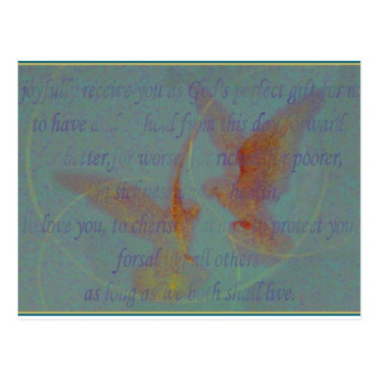 Marriage Vows Postcard