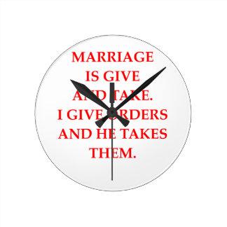 marriage wallclock