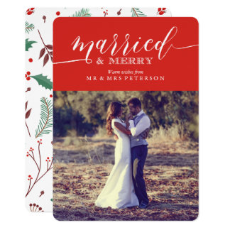 Married and Merry Card
