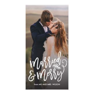 Married and Merry Holiday Photo Card