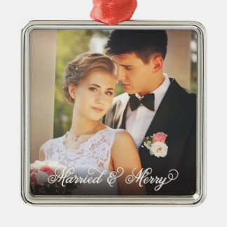 Married and Merry Ornament