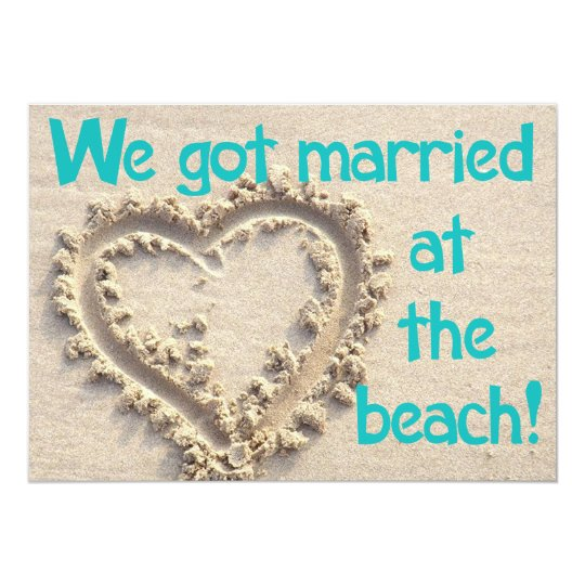 Married at the Beach Wedding Party Invitation