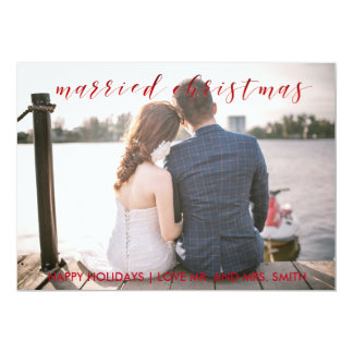 Married Christmas Holiday Card