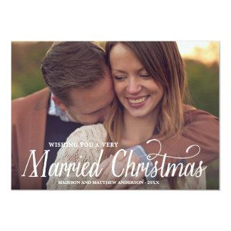 "MARRIED CHRISTMAS | HOLIDAY PHOTO CARD 5"" X 7"" INVITATION CARD"