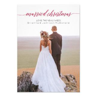 Married Christmas Newlywed Photo Card