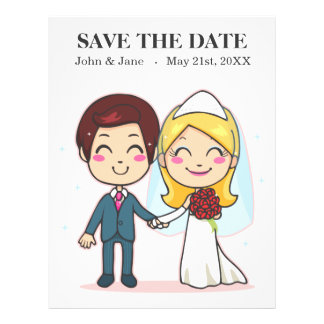 Married Couple Holding Hands Full Color Flyer