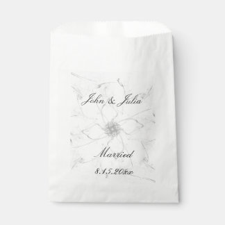 Married Flower Stencil Favor Bags