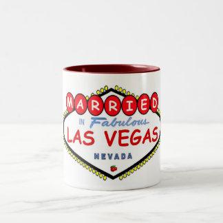 MARRIED In Fabulous Las Vegas Cherry logo Mug