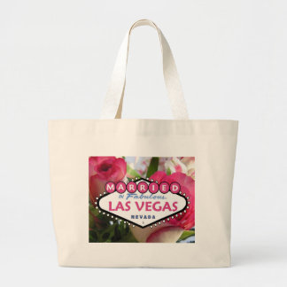 MARRIED In Fabulous Las Vegas Pink Roses T Bag