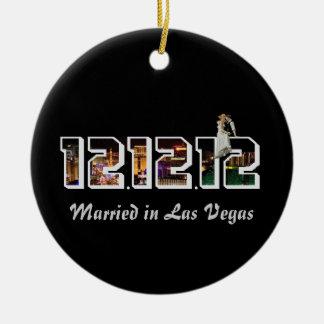 Married in Las Vegas 12 12 12 Ornament