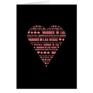 Married in Las Vegas Black/Red Card