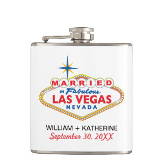 MARRIED IN LAS VEGAS Flask Bridal Party Gift