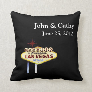 MARRIED In Las Vegas Personalized American MoJo Pi Throw Pillow