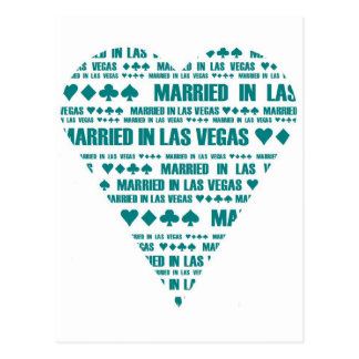 Married in Las Vegas Postcard