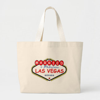 Married in Las Vegas with Cherry logo Tote Bag