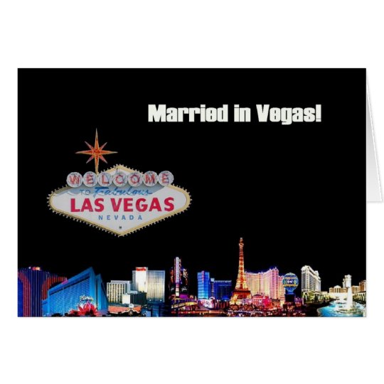 Married in Vegas! Card