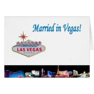 Married in Vegas! Card White Background