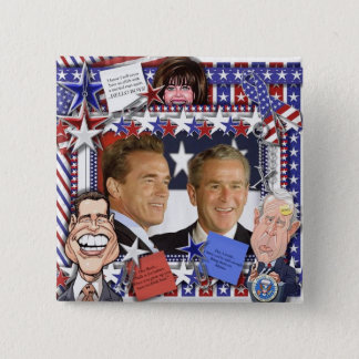 Married Men and Monica Lewinsky 2 Inch Square Button