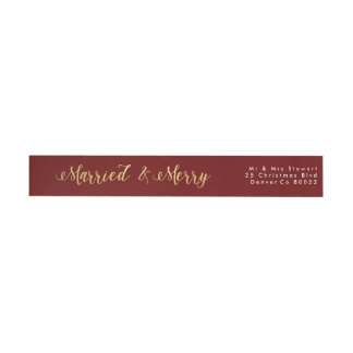 Married & Merry | First Christmas Wrap Around Label