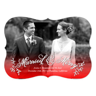 Married & Merry Newlywed Merry Christmas Card